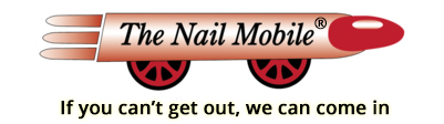 The NAIL Mobile, LLC (Medically trained to do Manicures and Pedicures) Logo